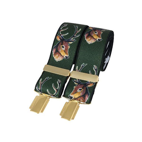 Braces - Green & Gold Stag Braces