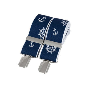 Braces - Nautical Navy Braces