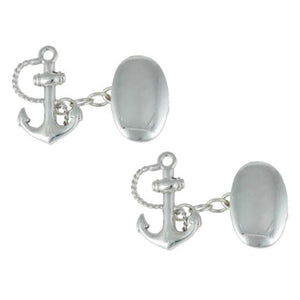 Cufflinks - Sterling Silver Anchor Cufflinks