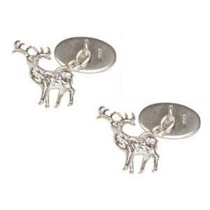 Cufflinks - Sterling Silver Stag Cufflinks