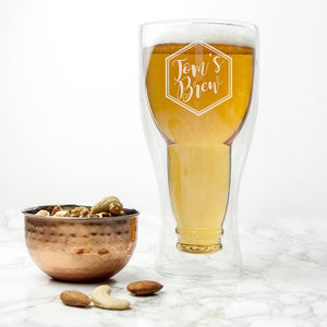 Glassware - Bottoms Up Beer Glass