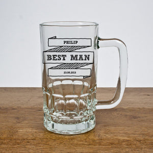 Glassware - Comic Style Best Man Tankard