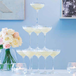 Glassware - Monogrammed Champagne Tower - Set Of 10 Glasses