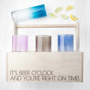 Glassware - Personalised Coloured Cocktail Crate - Set Of 6 - Highball/Tumbler