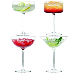 Glassware - Personalised Mismatch Cocktail Set - Set Of 4