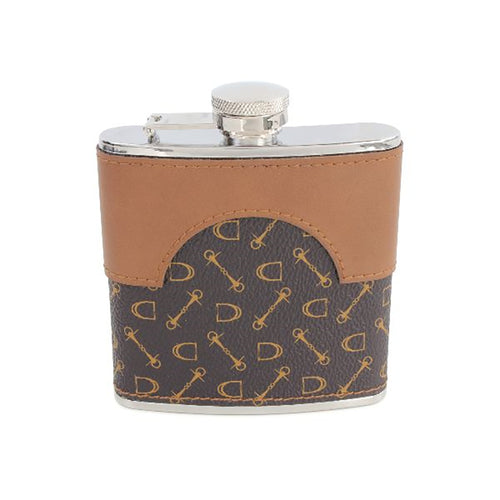 Hip Flask - Equestrian Faux Leather Hip Flask