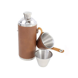 Hip Flask - Hunter Hip Flask With Drinking Cups