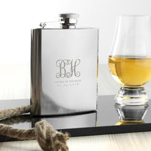 Hip Flask - Monogrammed Wedding Party Hip Flask
