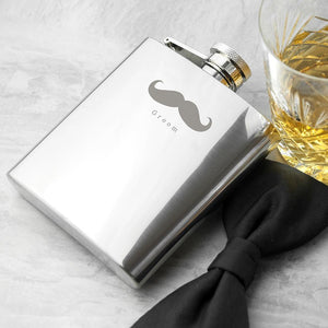 Hip Flask - Moustache Hip Flask