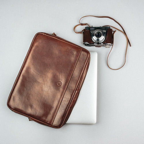 Laptop Sleeve - Leather Notebook Cover 15 Inch