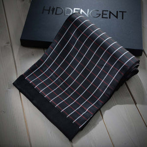 Luxury Men's Accessories Box - Black & Red Men's Scarf
