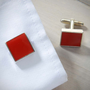 Luxury Men's Accessories Box - Red Cufflinks