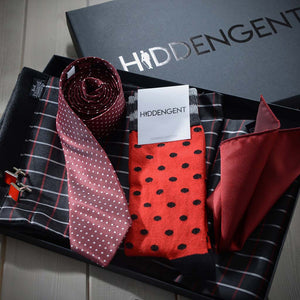 Luxury Men's Accessories Box - Red