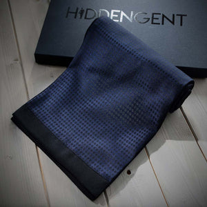 Luxury Men's Accessories Box - Navy Blue Men's Scarf
