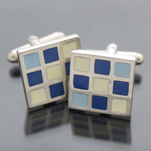Luxury Men's Accessories Box - Blue Cufflinks