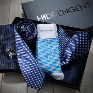 Luxury Men's Accessories Box - Navy Blue