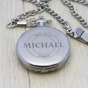 Pocket Watch - Personalised Groomsman Pocket Watch