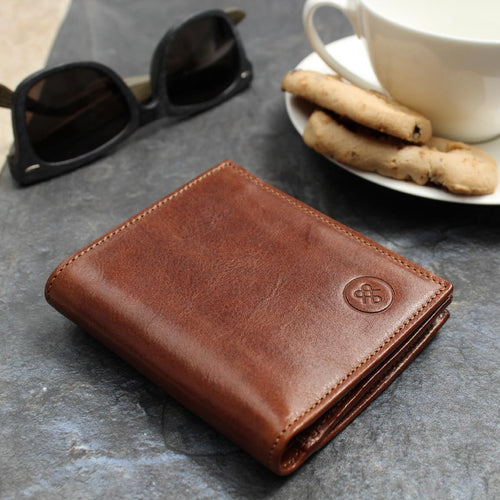 Wallet - Leather Wallet With Coin Pocket