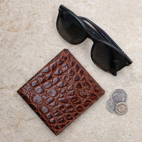 Wallet - Mock Croc Leather Bifold Wallet