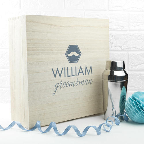 Wooden Box - Classic Groomsman Wooden Gift Box