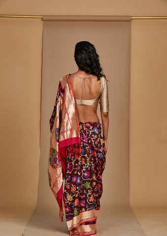 Multi Colour Banarsi Meena  Sari