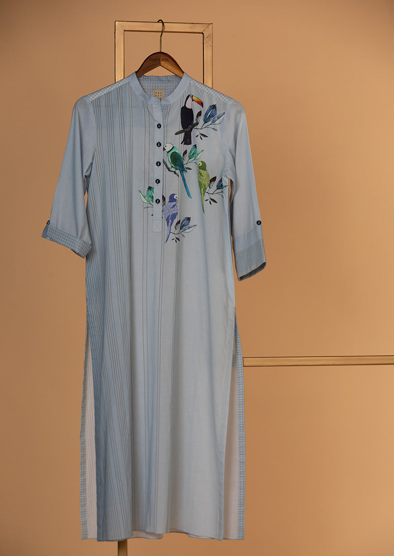 Cotton Printed Kurta with Palazzo