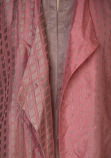 Silk Embroidered Pink Jacket with Lavender Kurta and Pants