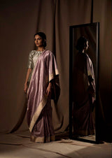 Lilac Banarasi Silk Sari  from our Origami collection