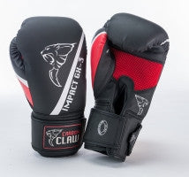 Carbon Claw Impact GX-3 Synthetic Sparring Gloves, Color- Black/Red, Size- 14oz - Completely Fitness