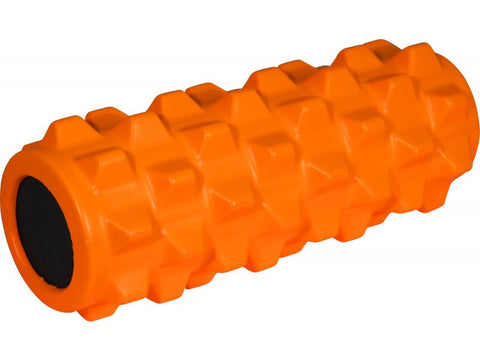 More Mile - The Xcelerator High Density Foam Roller - Core Body Workout - Orange - Completely Fitness