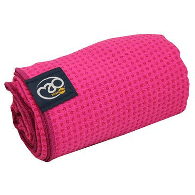 Yoga Mad - Women's Grip Dot Towel - Bright Pink
