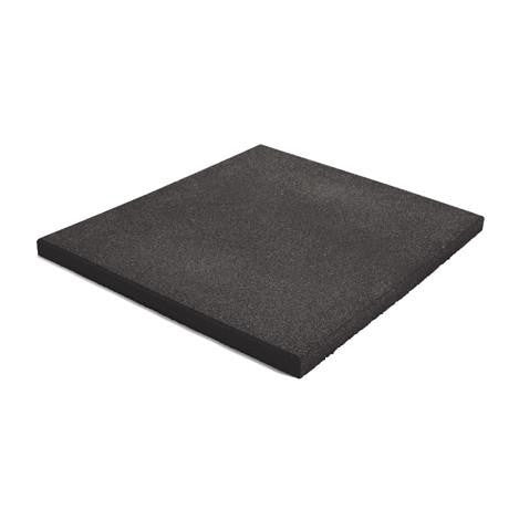 Jordan Fitness - Activ Flooring 15mm - Black Tile (50cm x 50cm) - Completely Fitness