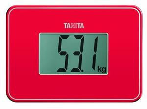 Tanita - HD386 super compact digital scales - red