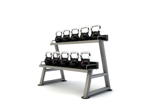 Cast Iron Kettlebell Set of 9 Kettlebells and Rack - Completely Fitness