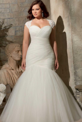 The best wedding dresses styles for large bust women for Best wedding dress style for small bust
