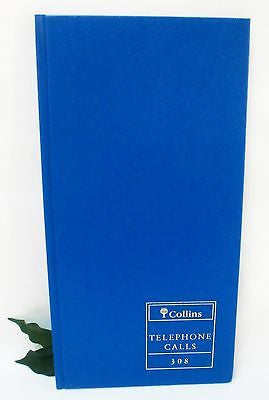 Collins Telephone Book 308 Telephone call log book 96 page 41 lines