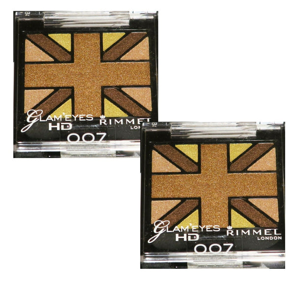 Pack of 2 Rimmel London Glam Eyes HD Quad Eye Shadow, Heart of Gold 007