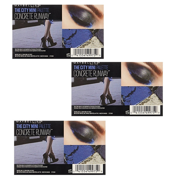 Pack of 3 Maybelline New York The City Mini Eyeshadow Palette, Concrete Runway 440