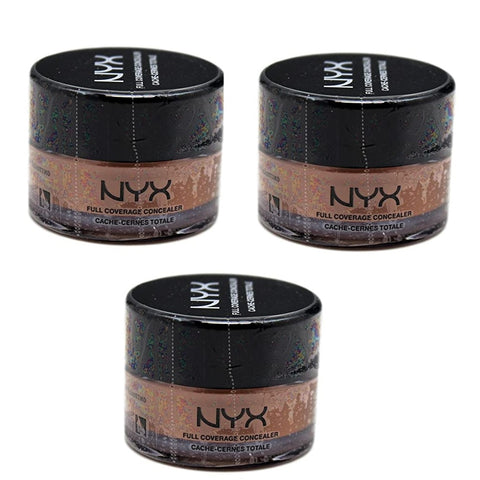 Pack of 3 NYX Full Coverage Concealer, Glow CJ06
