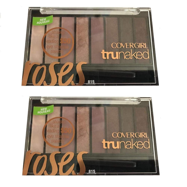 Pack of 2 CoverGirl trunaked Eye Shadow, Roses 815