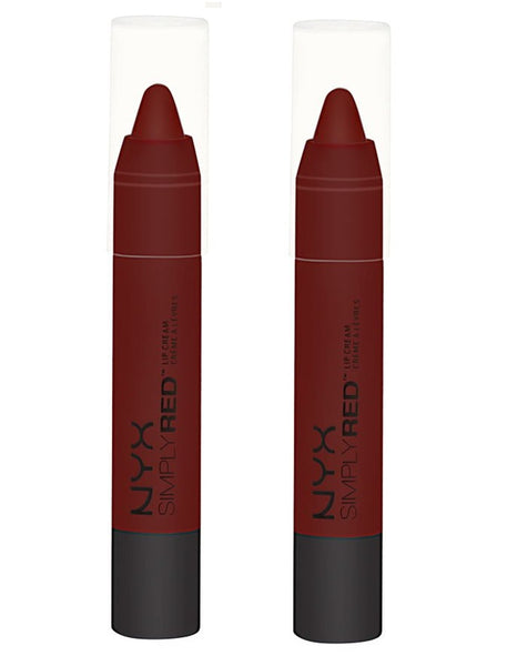 Pack of 2 NYX Simply Red Lip Cream, Leading Lady SR06