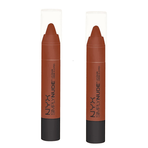 Pack of 2 NYX Simply Nude Lip Cream, Sable SN06