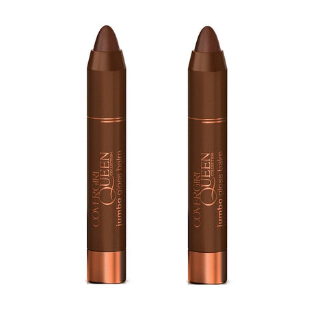 Pack of 2 CoverGirl Queen Jumbo Gloss Balm, Q863 Brown Sugar
