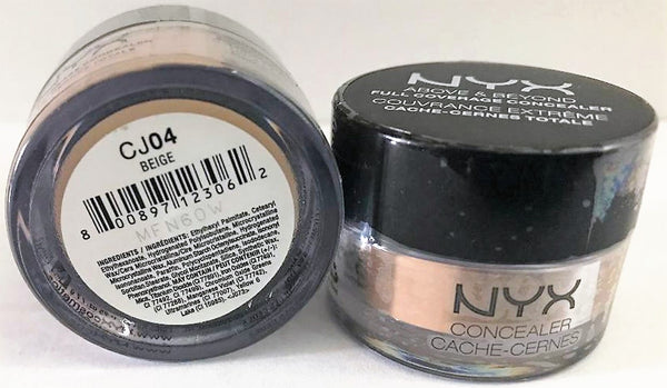 Pack of 2 NYX Above & Beyond Full Coverage Concealer, CJ04 Beige