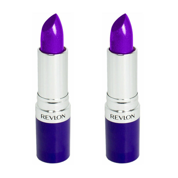Pack of 2 Revlon Lipstick, Unplugged Violet 110