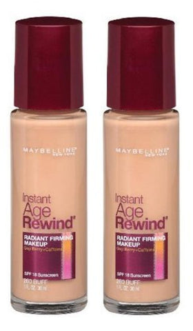 Pack of 2 Maybelline Instant Age Rewind Radiant Firming Makeup, Creamy Beige 290
