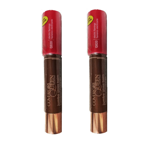 Pack of 2 CoverGirl Queen Jumbo Gloss Balm, Electric Flamingo Q820