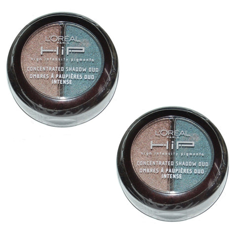 Pack of 2 LOreal Hip Concentrated Eye Shadow Duo, 208 Sassy