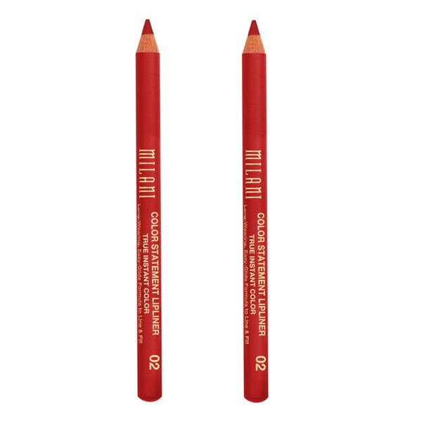 Pack of 2 Milani Color Statement Lipliner, True Red 02
