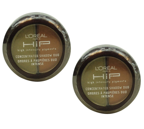 Pack of 2 L'Oreal HIP Concentrated Eye Shadow Duo, Devious 336